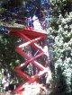 Limpeza e poda de árvores e palmeiras em plataforma elevatória